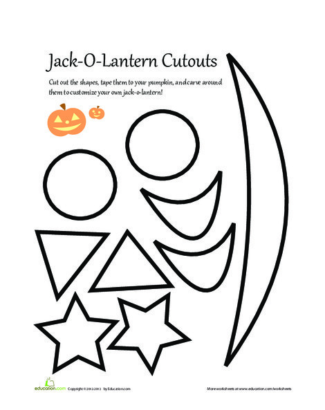 First Grade Arts & crafts Worksheets: Pumpkin Carving Patterns