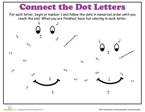 Kindergarten Math Worksheets: Dot-to-Dot Alphabet: C