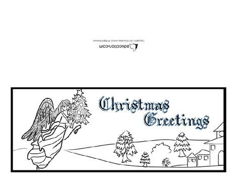 Fifth Grade Holidays Worksheets: Angel Printable Card