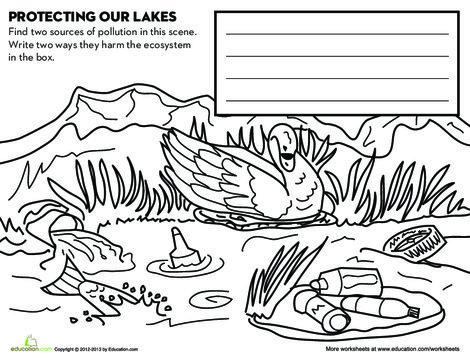 Third Grade Science Worksheets: Protect Lakes