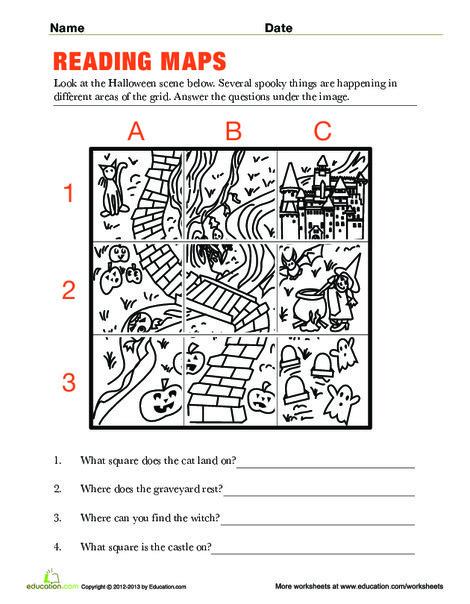Second Grade Social studies Worksheets: Reading Maps