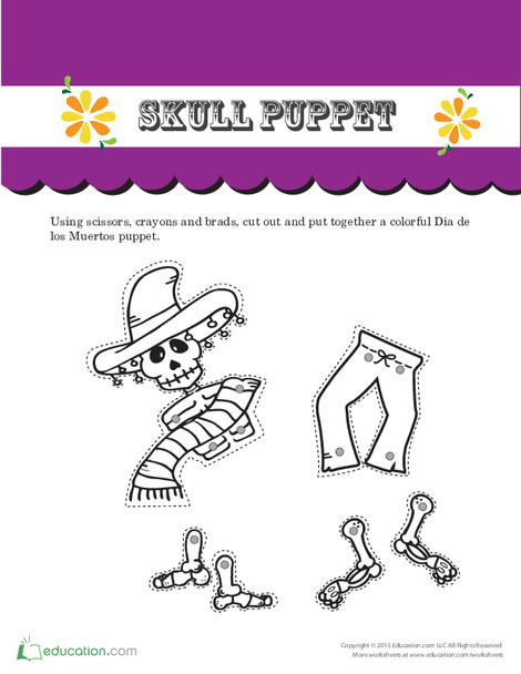 First Grade Seasons Worksheets: Day of the Dead Catrina