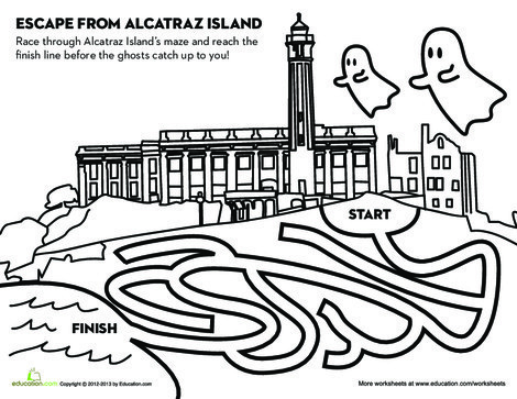 Fourth Grade Offline games Worksheets: Alcatraz Escape