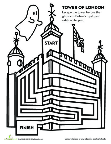 Fourth Grade Offline games Worksheets: Tower of London Game