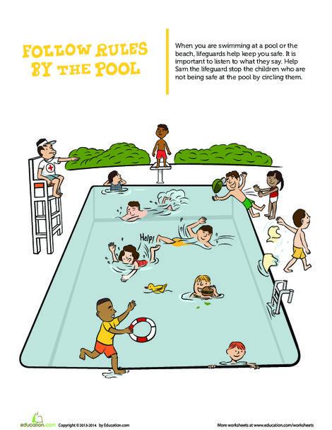 Preschool Social studies Worksheets: Lifeguard