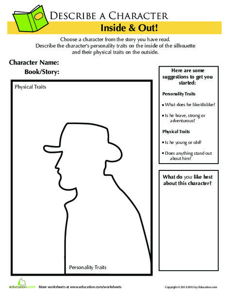 Second Grade Reading & Writing Worksheets: Frontiersman Character Traits