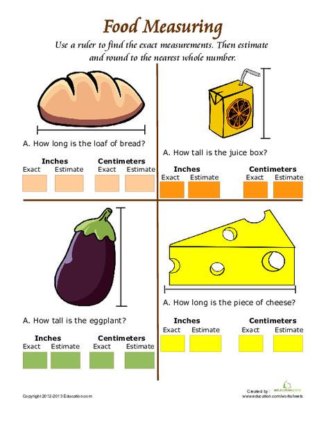 Second Grade Math Worksheets: Ruler Measurement #5