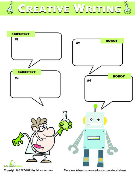 Fifth Grade Reading & Writing Worksheets: Write the Dialogue