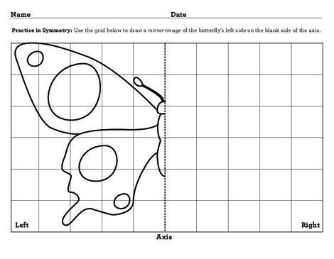 Third Grade Math Worksheets: Symmetry