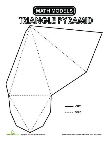 Second Grade Math Worksheets: Triangular Pyramid