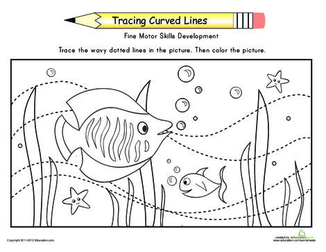Preschool Reading & Writing Worksheets: Motion of the Ocean