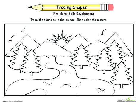 Kindergarten Math Worksheets: Complete the Mountains