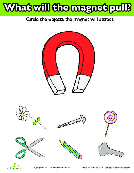 First Grade Science Worksheets: Introduction to Magnets