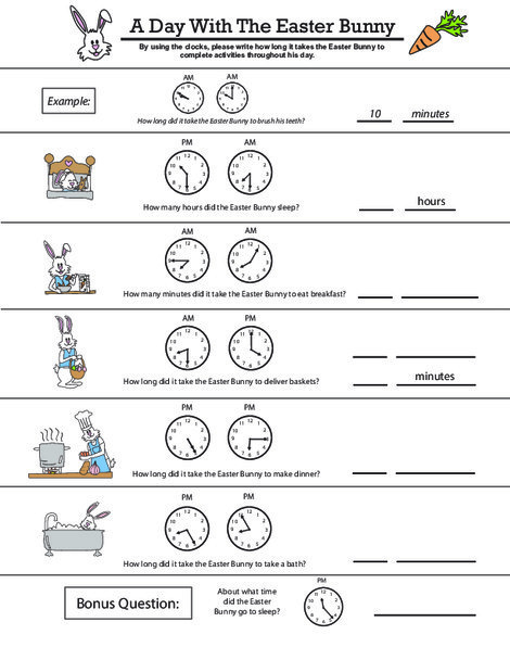 Second Grade Math Worksheets: Clock Work: Telling Time