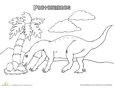 First Grade Coloring Worksheets: Color the Protohadros