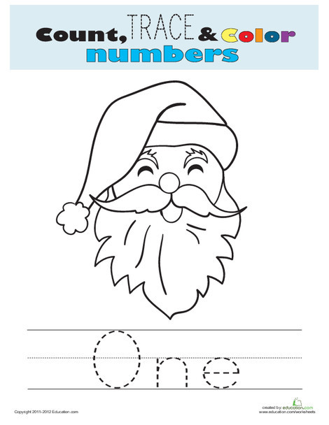 Preschool Math Worksheets: Spelling Numbers: One