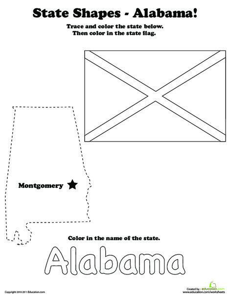 First Grade Social studies Worksheets: Capital of Alabama