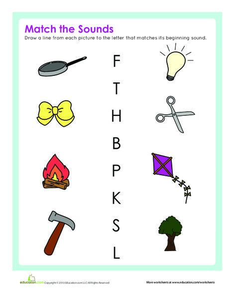 Kindergarten Reading & Writing Worksheets: Initial Sounds