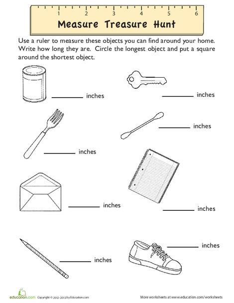 Second Grade Math Worksheets: How Long?