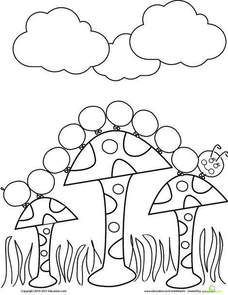 Preschool Coloring Worksheets: Caterpillar Coloring Page