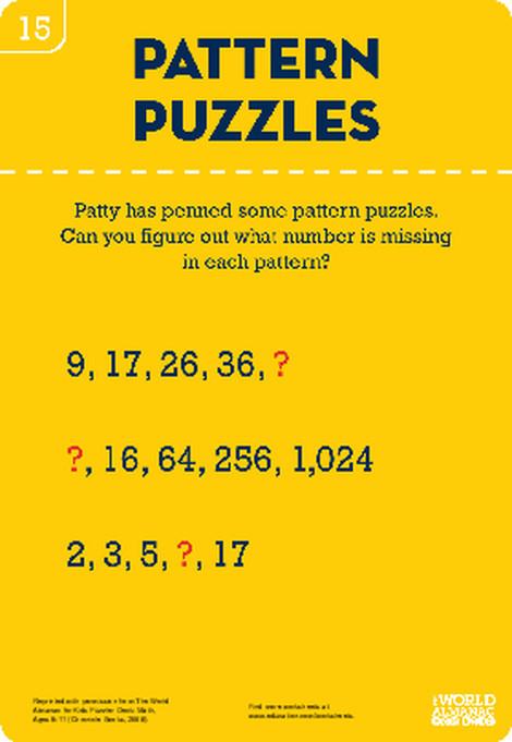 Fourth Grade Math Worksheets: Math Pattern Puzzles