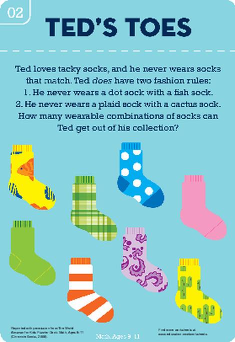 Fourth Grade Math Worksheets: Sock Hop Combinations