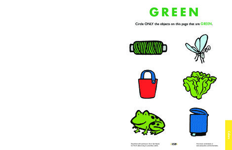 Preschool Science Worksheets: The Color Green: Learning About Color