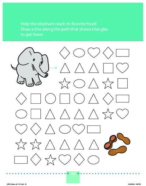 Preschool Math Worksheets: An Elephant Never Forgets!