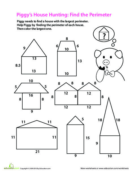 Third Grade Math Worksheets: Find the Perimeter