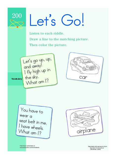 Preschool Math Worksheets: Road and Rail Riddles
