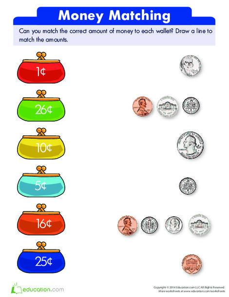 Kindergarten Math Worksheets: Match It!