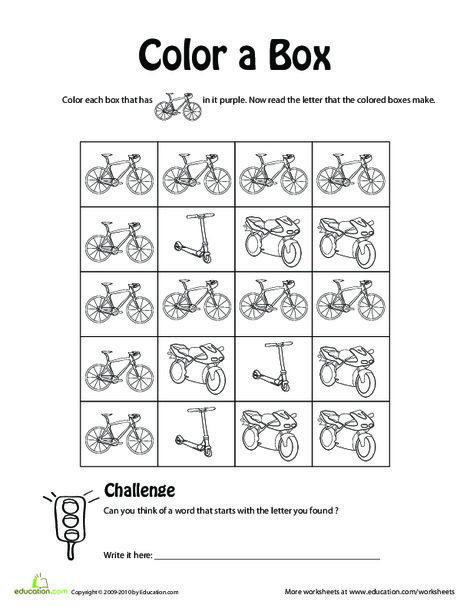 Kindergarten Reading & Writing Worksheets: Find the Hidden Letter: F