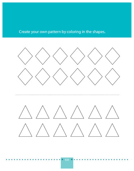 Preschool Math Worksheets: Create Your Own Pattern