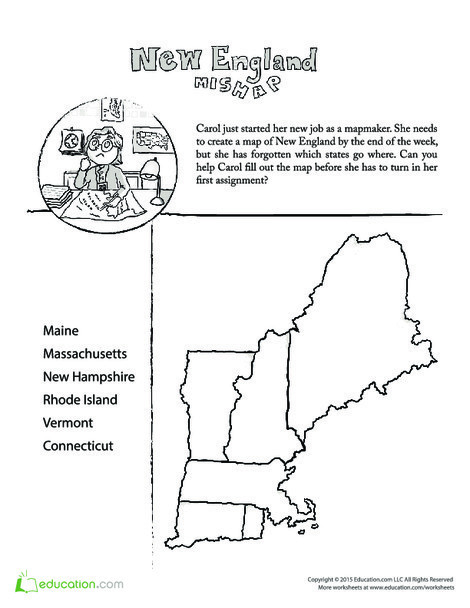 Fourth Grade Social studies Worksheets: Mixed-Up Map: Learn U.S. Geography