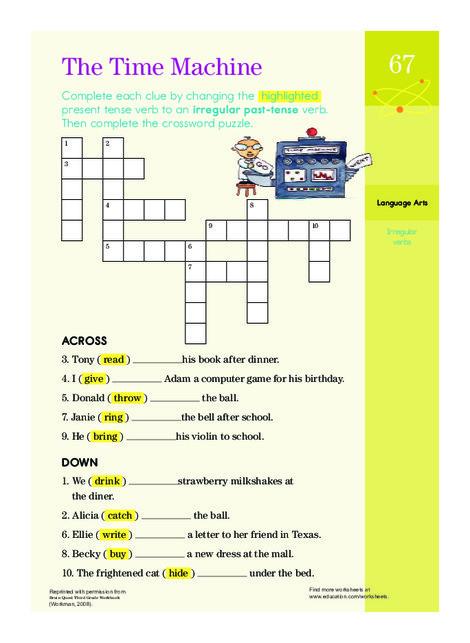 Third Grade Reading & Writing Worksheets: Past Tense Practice