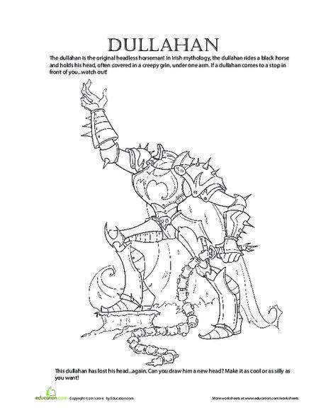 Second Grade Holidays Worksheets: Dullahan