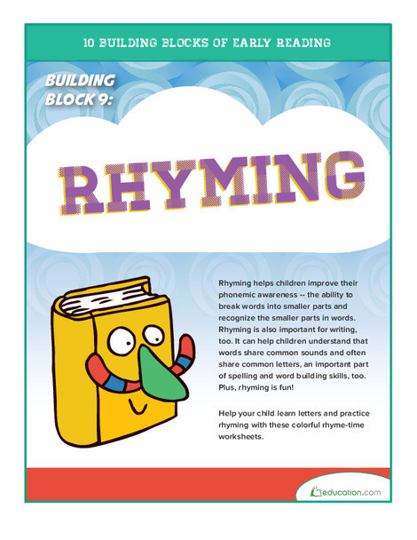 Preschool Reading & Writing Worksheets: Early Reading Building Block 9: Rhyming
