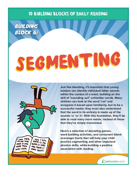 Preschool Reading & Writing Worksheets: Early Reading Building Block 6: Segmenting