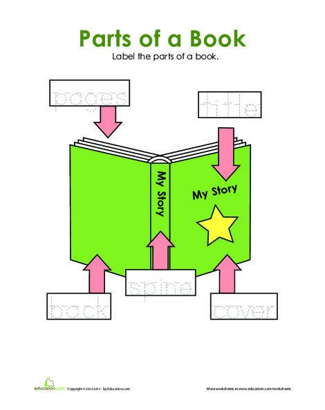 Preschool Reading & Writing Worksheets: Book Words