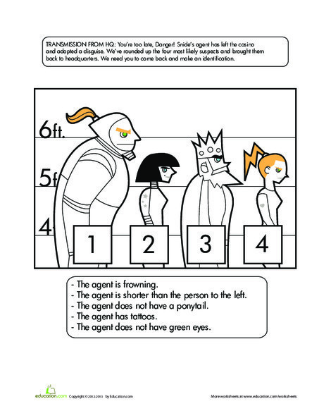 Fifth Grade Math Worksheets: Catch the Crook!