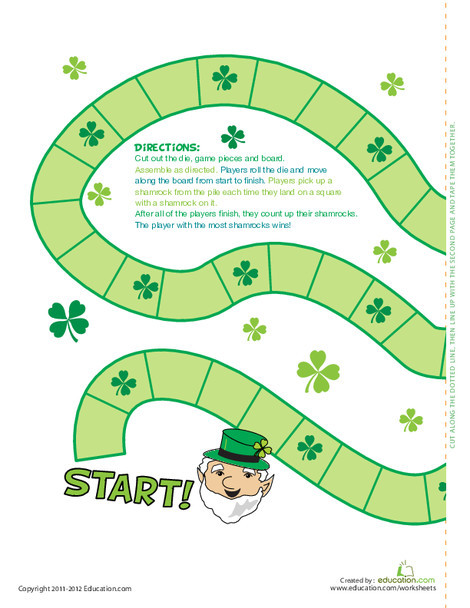 Second Grade Holidays Worksheets: St. Patrick's Day Games for Kids: Over the Rainbow!